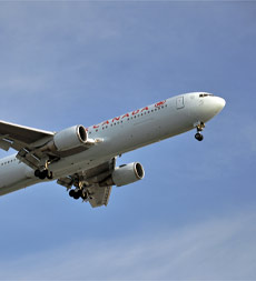 Canada Airlines jet in flight